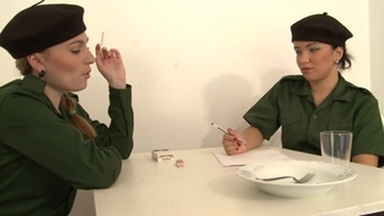 THEME SCAT MOVIES / Lesbian Scat Military Girls Maria-Cyntia-Dominique-Anna