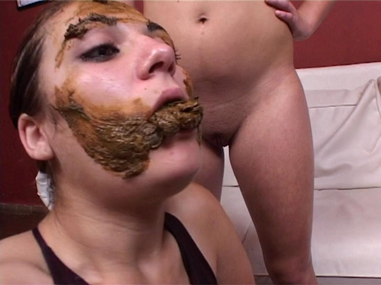 Women eating women shit