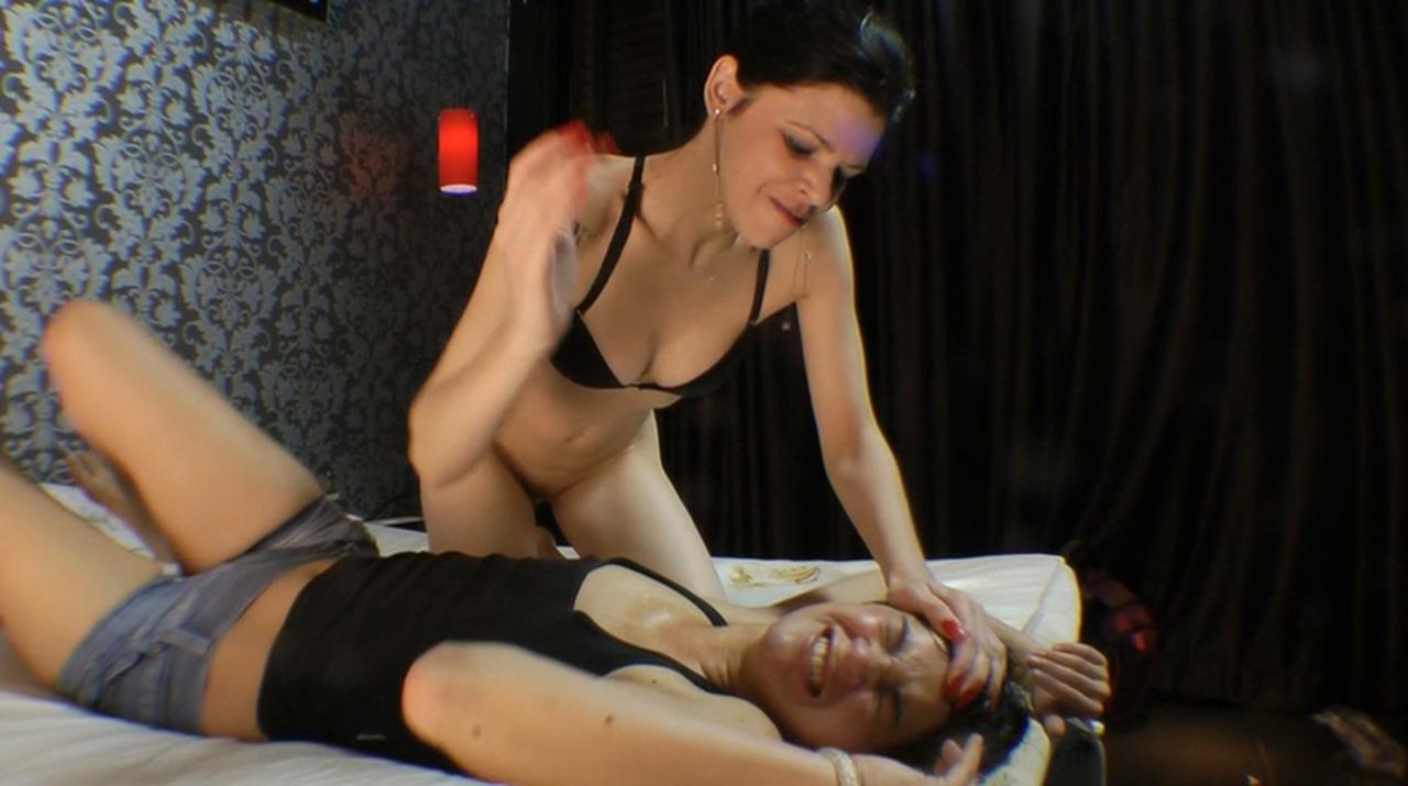 Women dominating women in sex