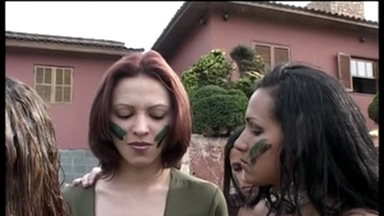 THEME SCAT MOVIES / Lesbian Scat Military Girls - Scat Gang Bang
