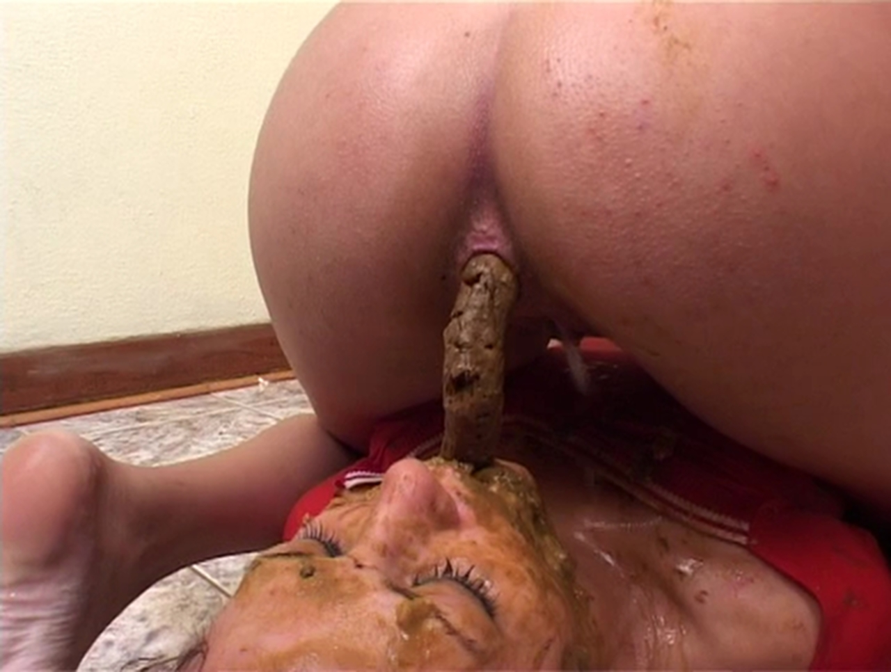Valuable college girls pooping scat