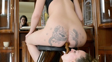 SCAT INTO MOUTH / Xtreme Big Scat by top Domina Emilia and Slave Melania