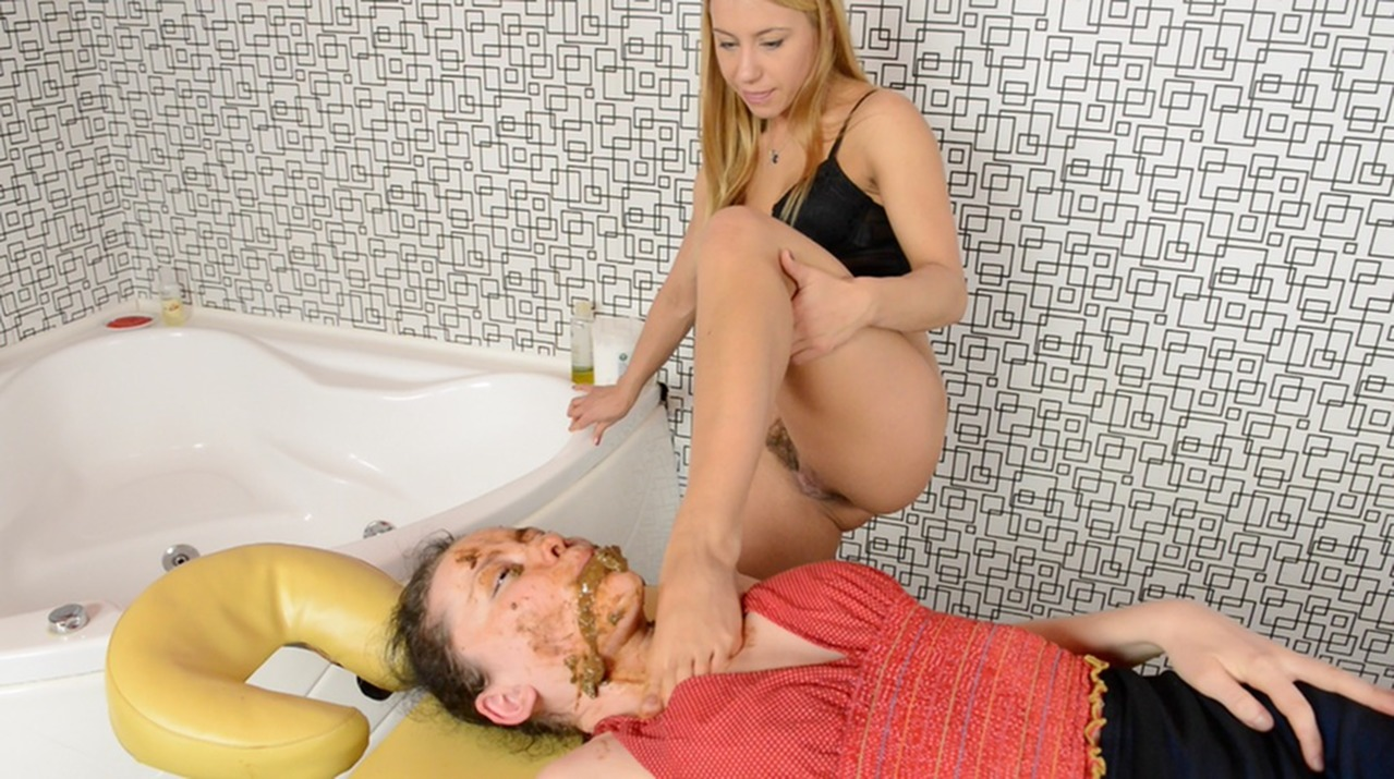 German girl gets a lot of cum and cumshots in porn theater 5