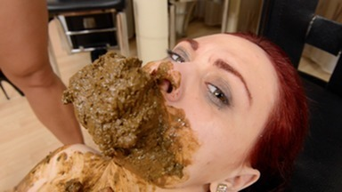Scat Domination - Xtra Big Scat Direct Into Mouth - Top Girls Niki And Roxana