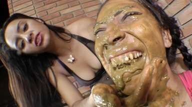 SCAT INTO MOUTH / Scat Domination By Dominatrix Agatha - Suck My Asshole And Take All My Big Shit Into Your Mouth
