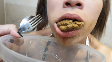 Scat Dinner - Time To Eat My Shit Bitch!! By Top Girls Juliana Gonzales And Mila