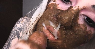 SCAT INTO MOUTH /  Scat Swallow Extreme Big Shit By Black Eyes Demon Betty